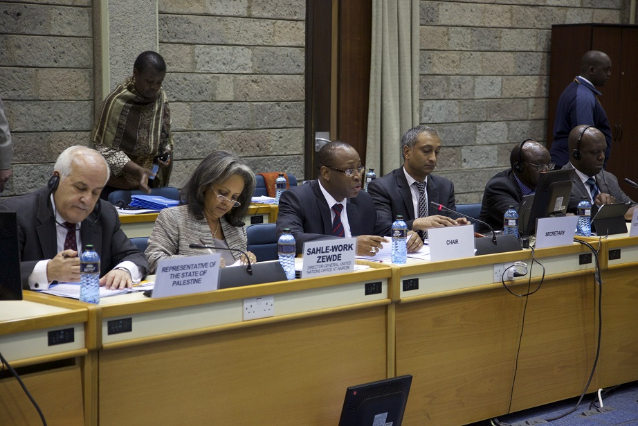 Ambassador Mansour participating in the UN Seminar in Nairobi