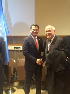 El Salvador FM and Palestine Amb at ICC Accession