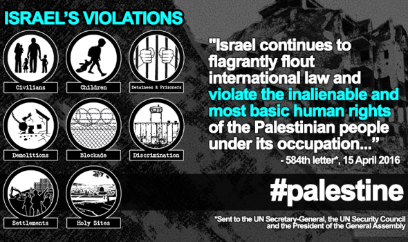 15 April 2016 –  Illegal Israeli Settlements