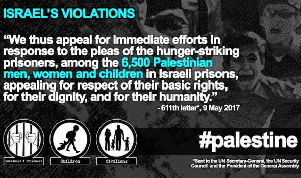 9 May 2017 – Grave Situation of Palestinian Prisoners on Hunger Strike