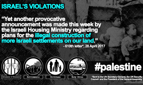 28 April 2017 – Illegal Settlements and the Hunger Strike